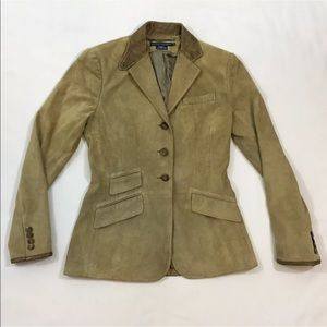 Womens 4 Ralph Lauren Leather Jacket Suede